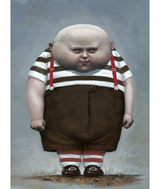 """Tweedle"" for Tim Burton's Alice in Wonderland."