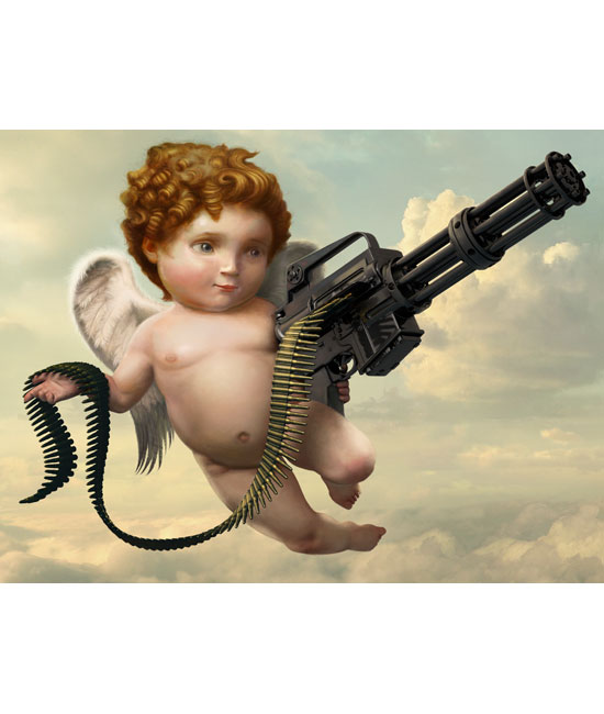 """Cupid for Swiss dating advertisement."