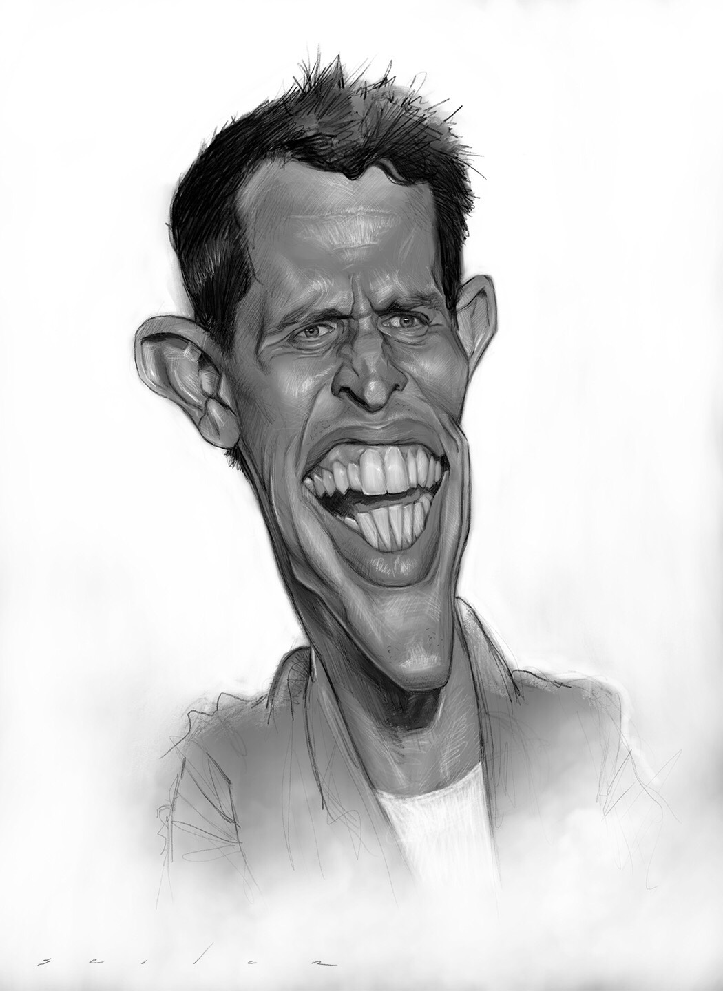 Sketch of Stand up Comedian Tony Hinchcliffe of Kill Tony! - Jason