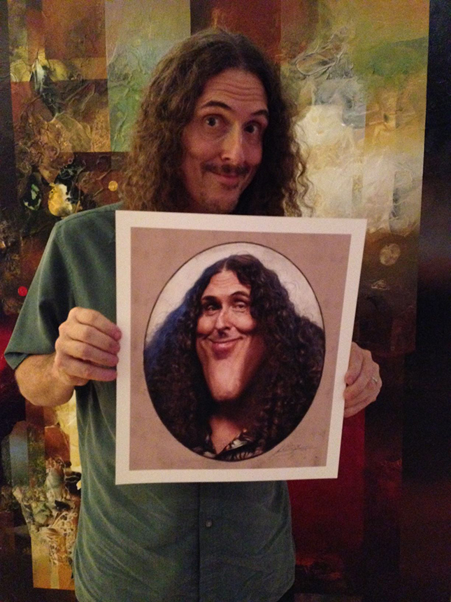Al with his print!