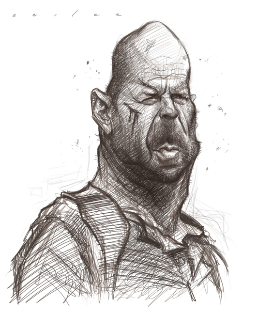 Sketches - Jason Seile... Bruce Willis